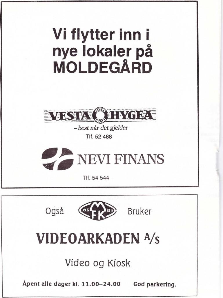 Kampprogram Molde Rosenborg s6